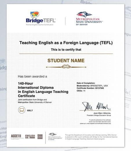 Bridge IDELT TESOL/TEFL Certification Course