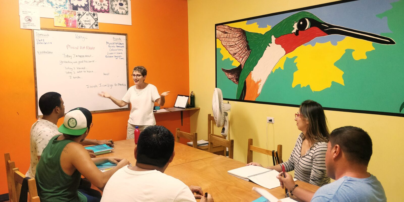 An adult English class with Kathy!