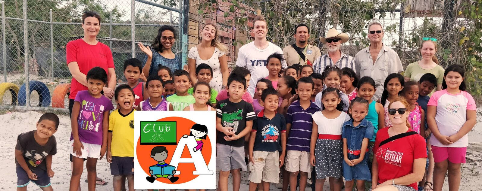 Teachers volunteering with Club A, a non-profit organization that helps underpriviledged kids.